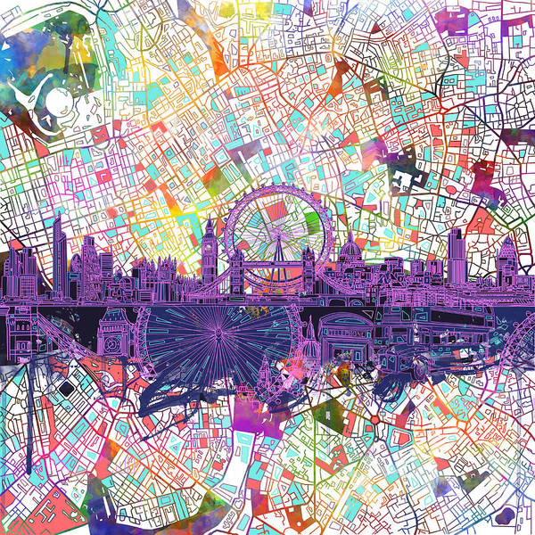 London Skyline Abstract Poster