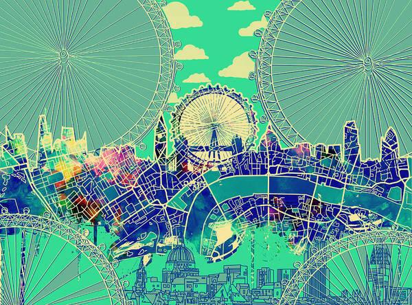 London Skyline Vintage 2 Poster