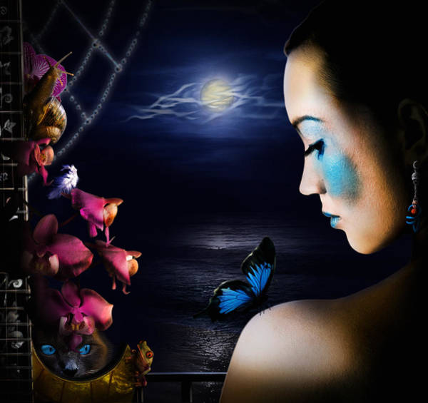 Lonely Blue Princess And The Villains Poster