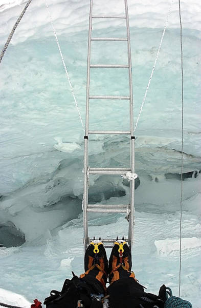 Looking Into Crevasse On Mount Everest Poster