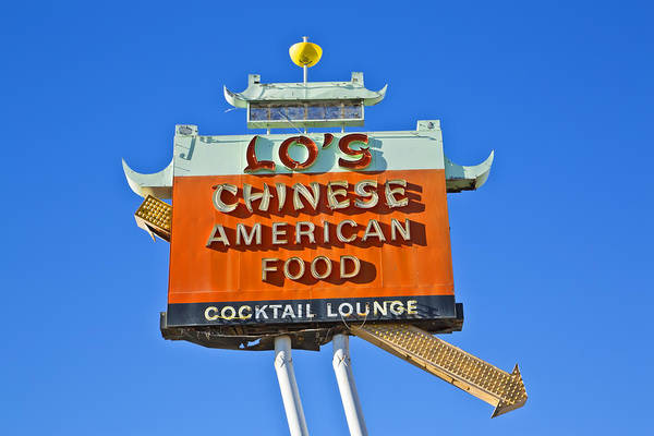 Poster featuring the photograph Lo's Chinese American Food by Gigi Ebert