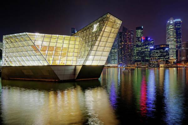 Louis Vuitton Pavillon And Skyline Poster