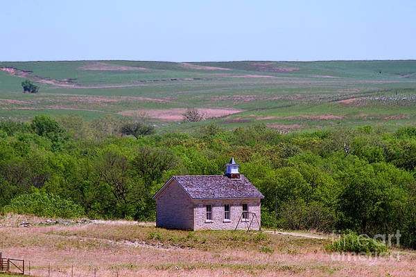 Lower Fox Creek Schoolhouse In The Flint Hills Of Kansas Poster