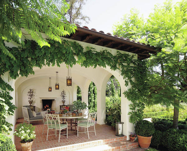 Luxury Villa Near Green Garden Poster