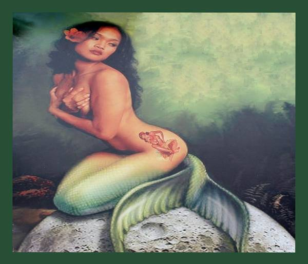 Lydia The Tattooed Mermaid Poster