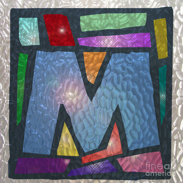 M As Stained Glass Poster