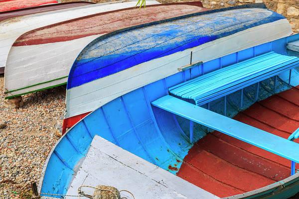 Macedonia, Ohrid, Close Up Of Boats Poster