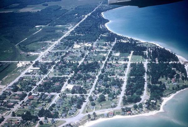 Mackinaw City In The Fifties Poster