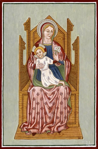 Madonna Col Bambino In Trono - Mother Of God On The Throne. Poster