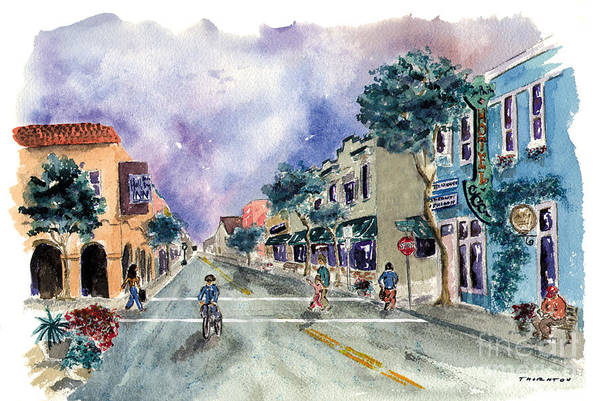 Main Street Half Moon Bay Poster