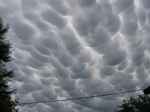 Mammatus Clouds Over Yorkton Poster