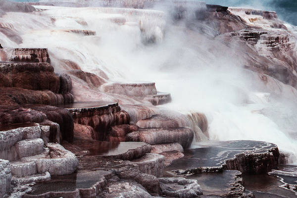Mammoth Hot Springs In Yellowstone Poster