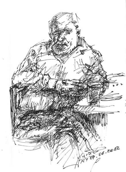 Man At The Bar Poster