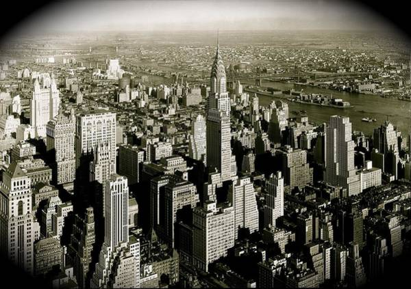 Manhattan And Chrysler Building II Poster