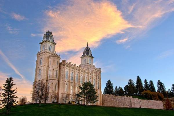 Manti Temple Morning Poster