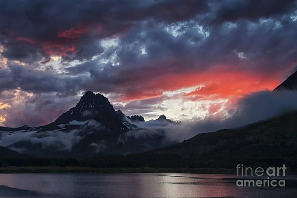 Many Glacier Sunset Poster