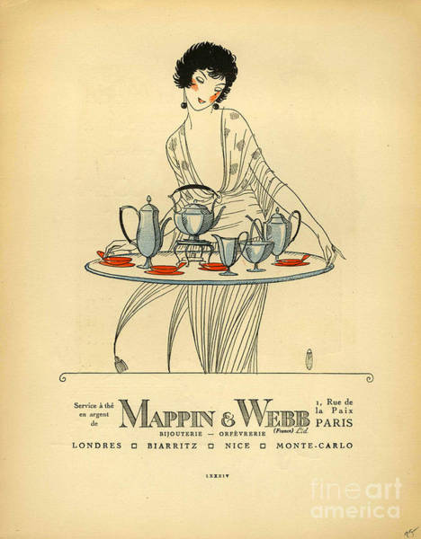Mappin And Webb  1920s France Cc Tea Poster