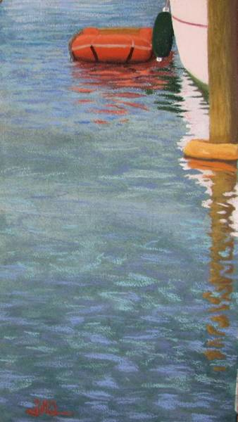 Poster featuring the pastel Marine Reflections by Serena Dawson