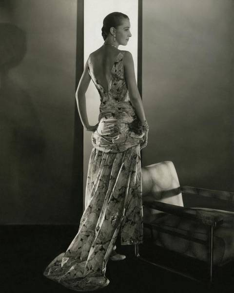 Marion Morehouse Wearing A Louiseboulanger Dress Poster