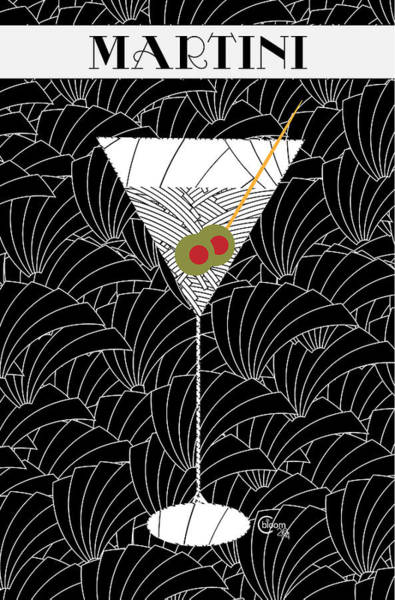 1920s Martini Cocktail Art Deco Swing   Poster