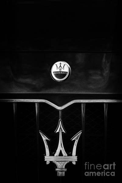 Maserati Quattroporte Monochrome Poster