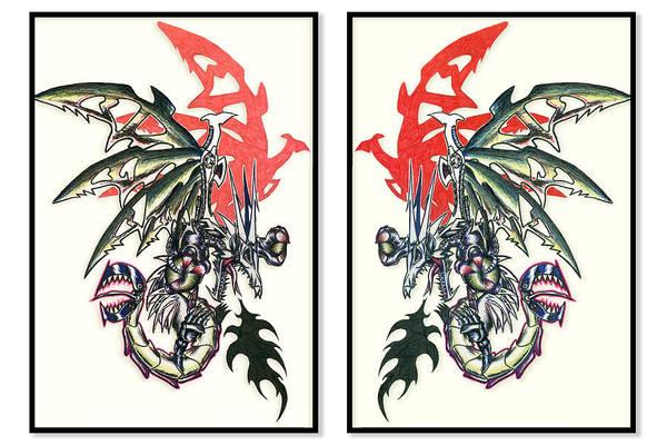 Mech Dragons Collide Poster
