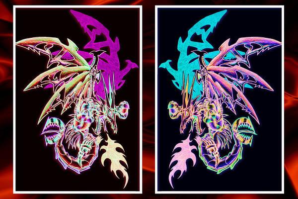 Mech Dragons Pastel Poster