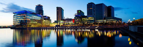 Media City At Dusk, Salford Quays Poster