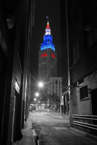 Memorial Day Terminal Tower In Cleveland Poster
