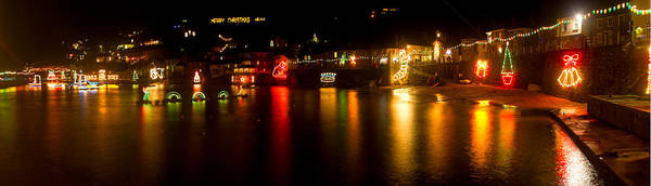 Merry Christmas Mousehole Lights Poster