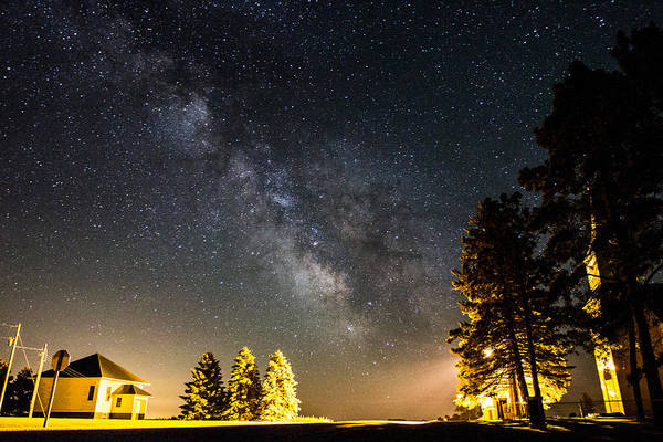 Milky Way From Oldham South Dakota Usa Poster
