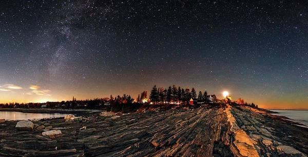Milky Way Over An Atlantic Coastline Poster