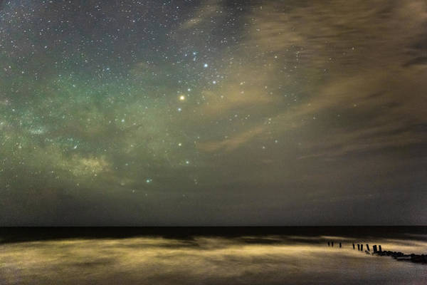 Milky Way Over Folly Beach Poster
