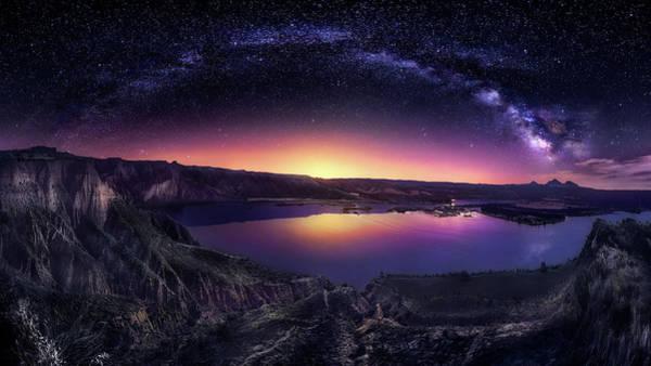 Milky Way Over Las Barrancas 2016 Poster