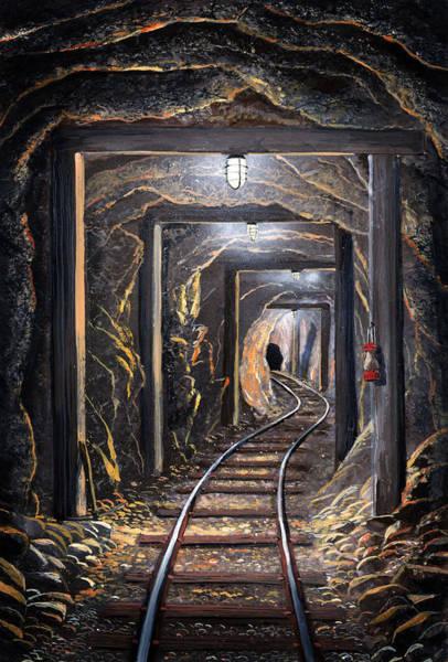 Mine Shaft Mural Poster