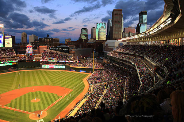 Minnesota Twins Minneapolis Skyline Target Field Poster