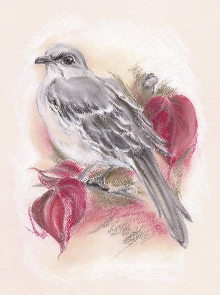 Mockingbird In Autumn Dogwood Poster