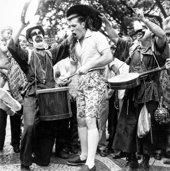 Model Drumming At A Carnival Poster