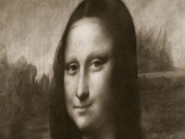 Mona Lisa From A Different Angle Poster