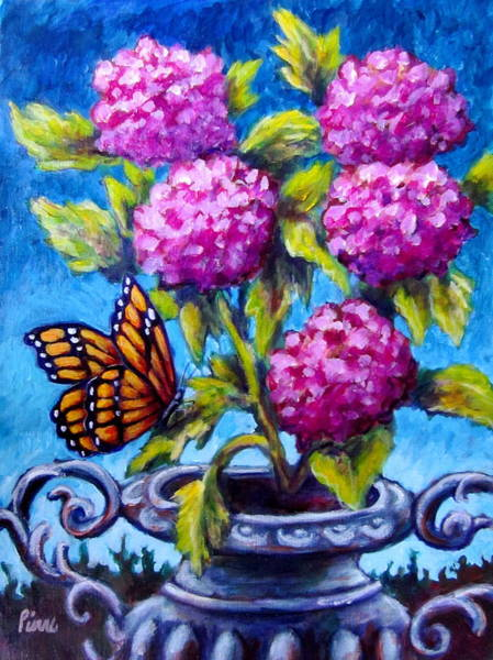 Monarch And Flowers Poster