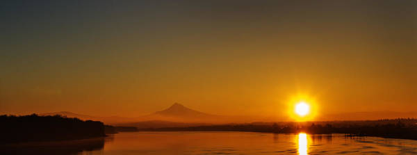 Monday Morning Columbia River Mount Hood Poster
