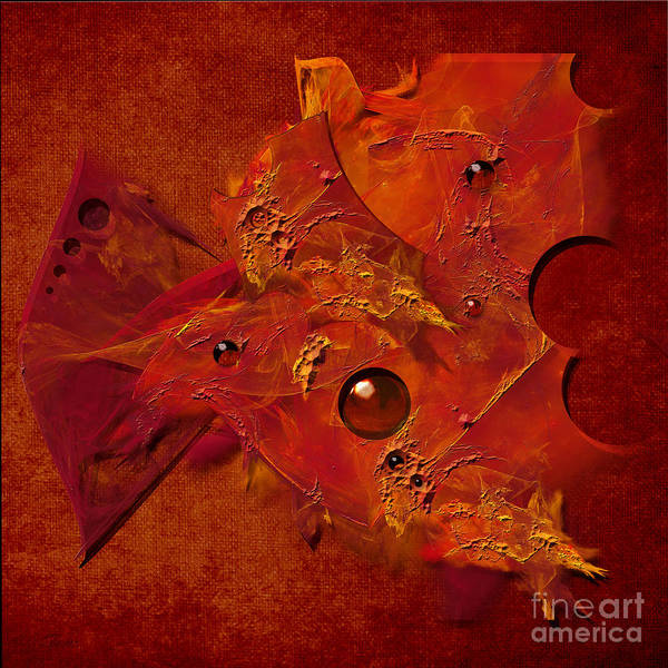 Mood In Orange Poster