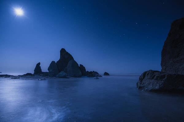 Moonlight Blue Poster