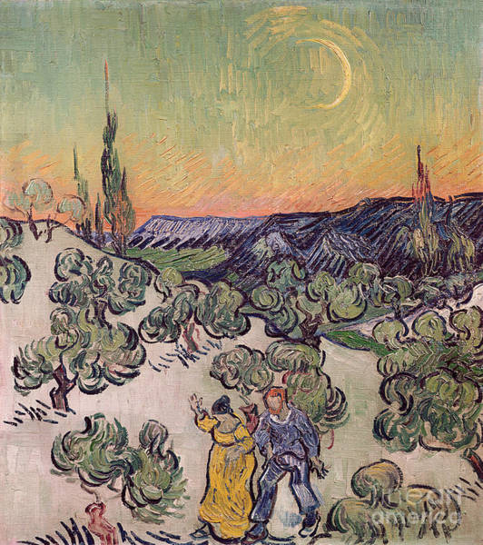 Moonlit Landscape Poster
