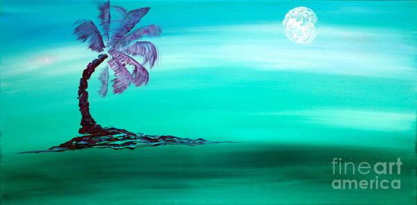 Moonlit Palm Poster