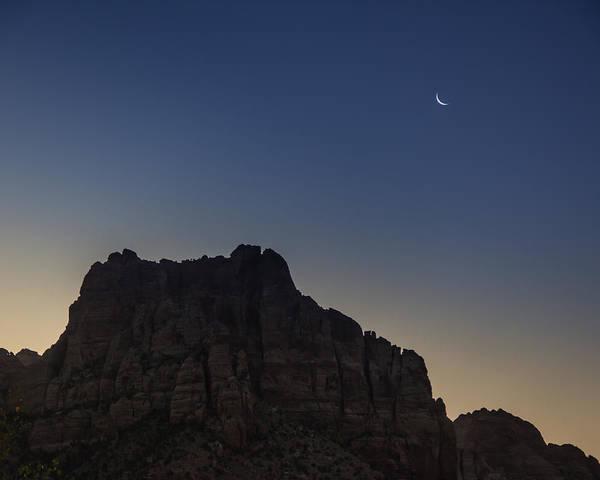Moonrise Near Zion Poster