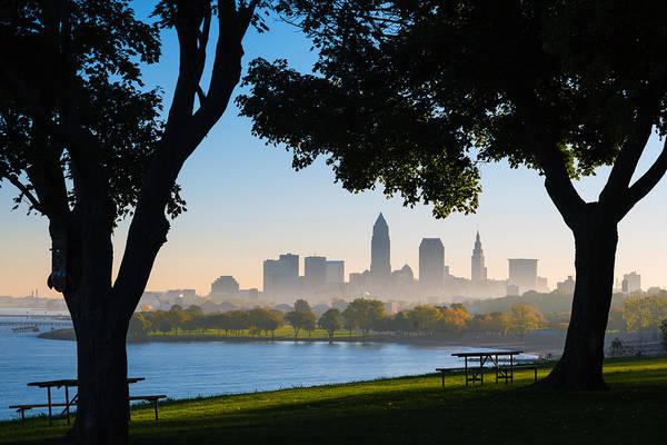 Cleveland Morning Fog Poster
