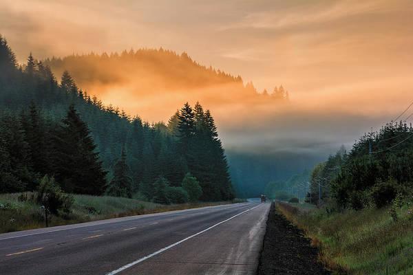 Morning Fog In Oregon Poster