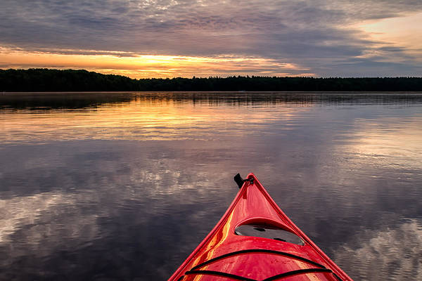 Morning Kayak Poster
