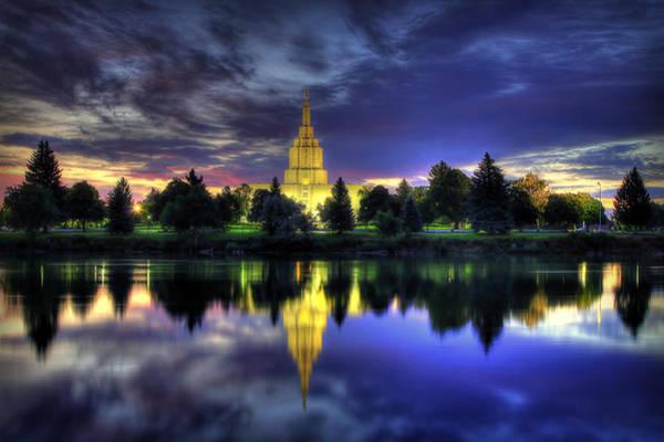 Morning Reflections Of Idaho Falls Temple  Poster